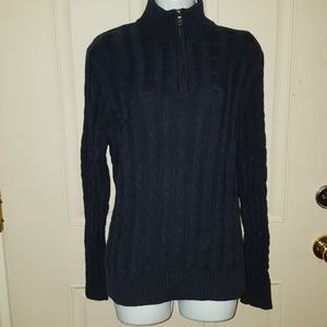 NWOT Lands End Crochet Style Sweater